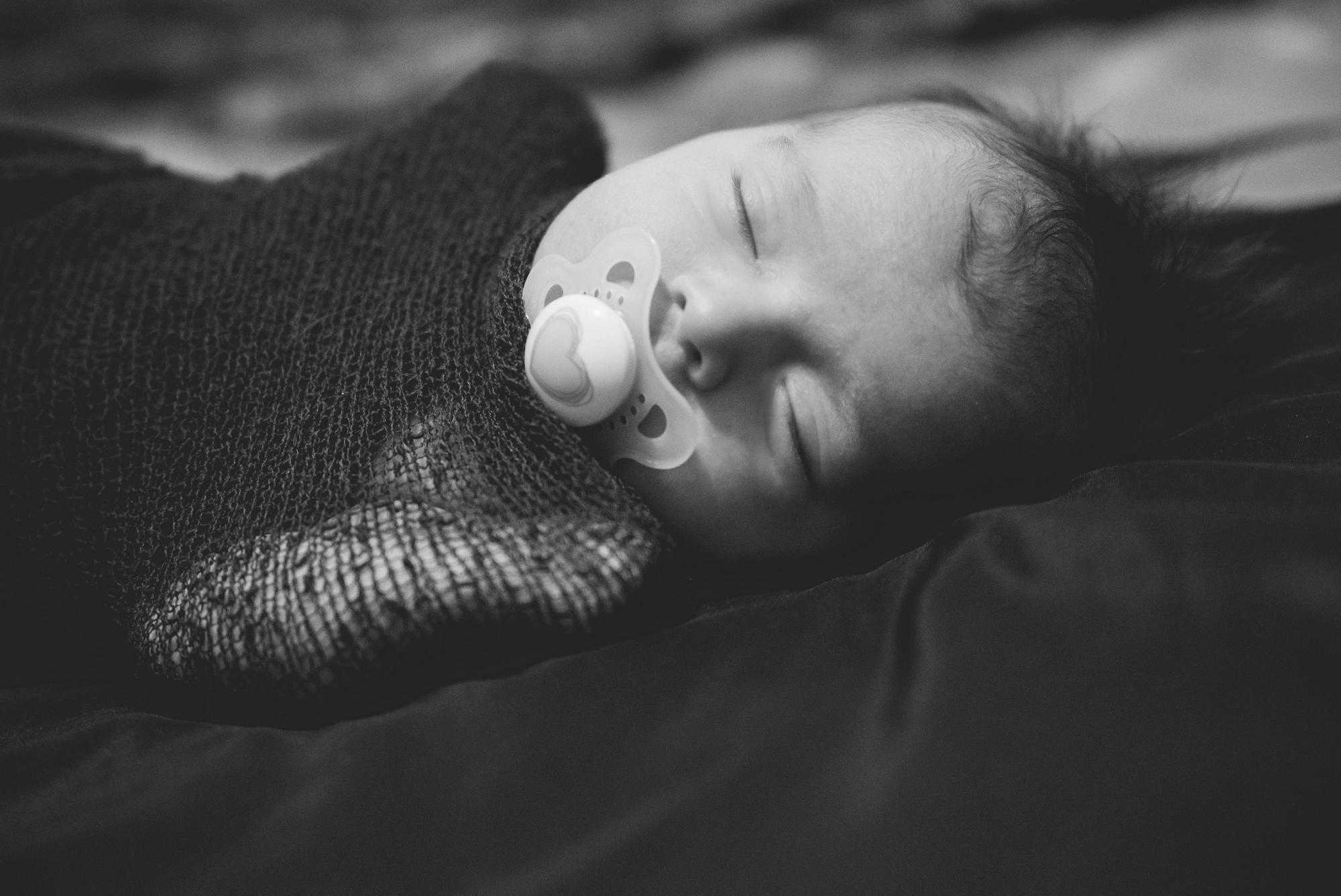 newborn girl closeup lifestyle session