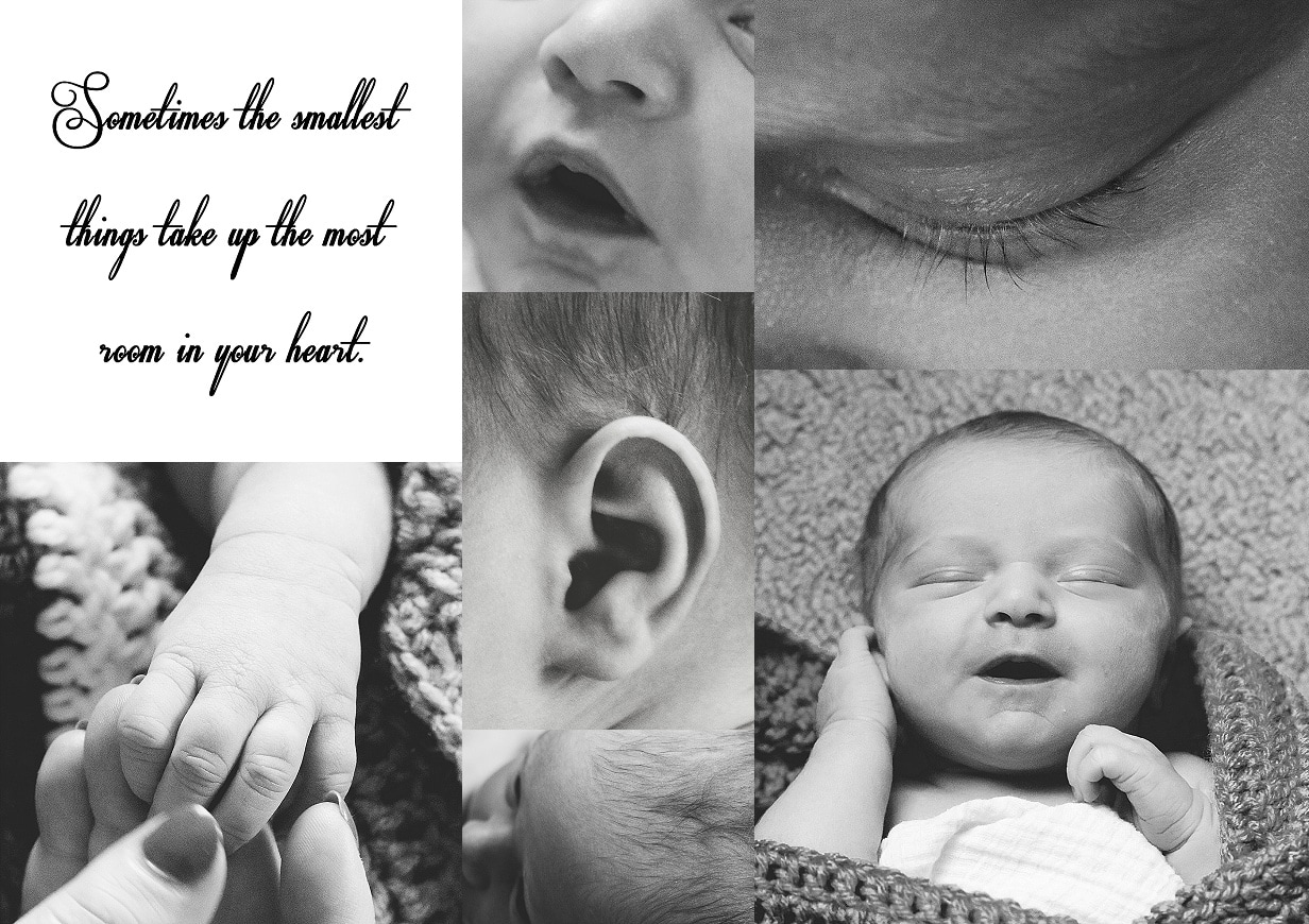 newborn body parts close up