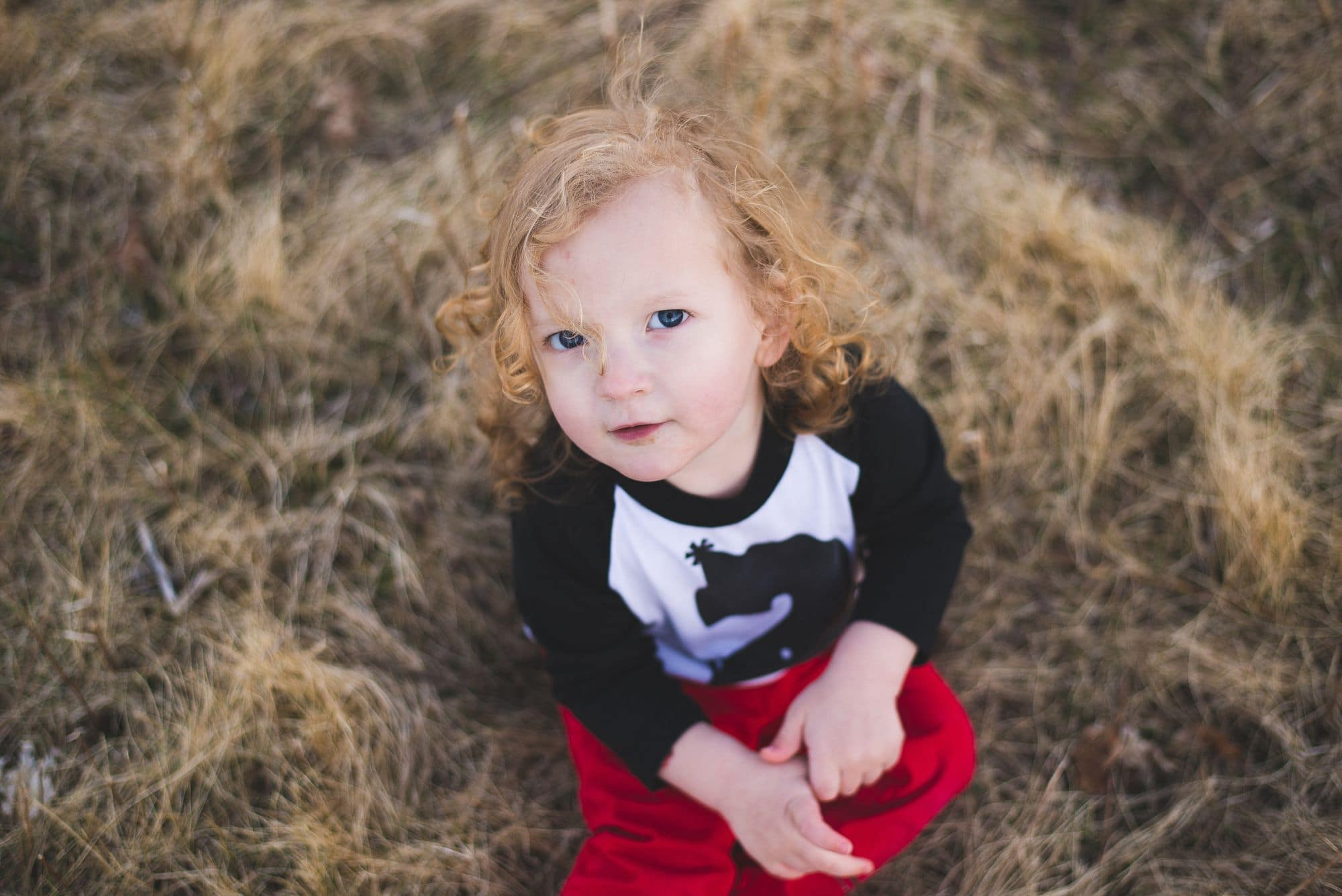 Sweet young boy poses for the camera for his second birthday photo session