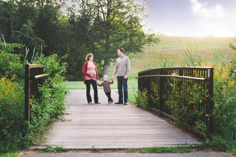 Family of 3 Maternity Garden Session | Worcester MA Family