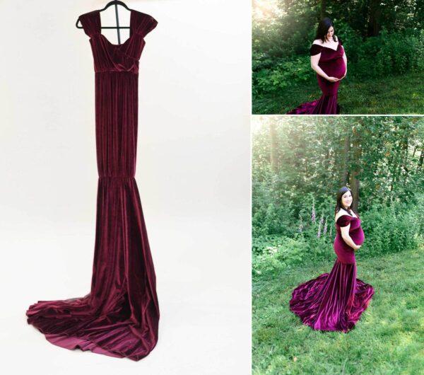 Berry Velvet Gown S-L