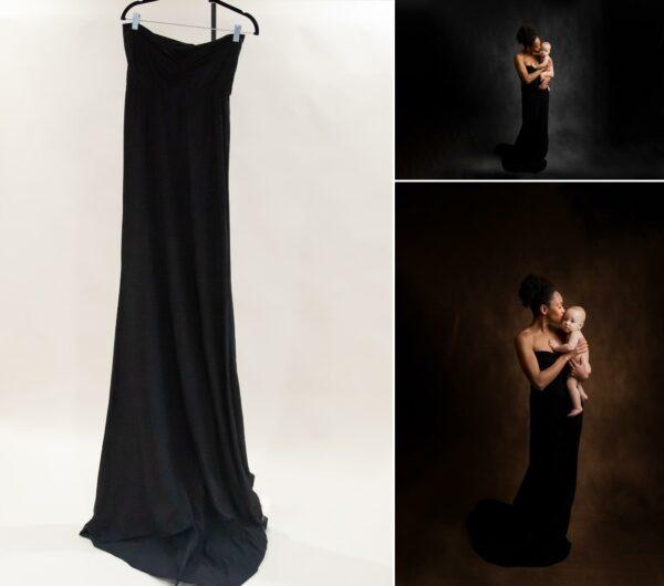 Black Sleeveless Train Dress XS-M