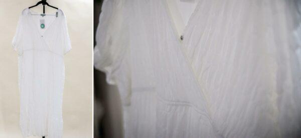 White Textured Midi Dress XXL-XXXL